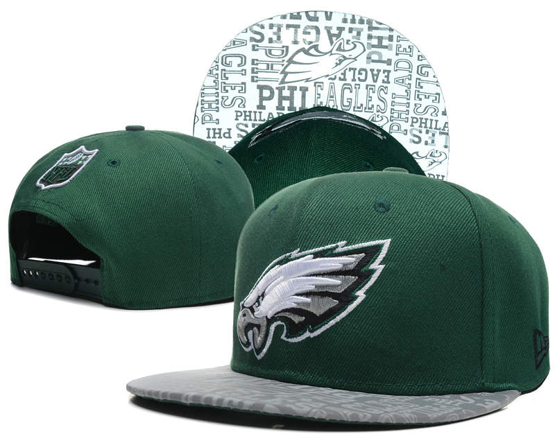 Philadelphia Eagles 2014 Draft Reflective Green Snapback Hat SD 0613